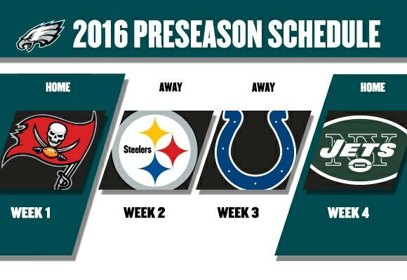2016 Philadelphia Eagles preseason schedule