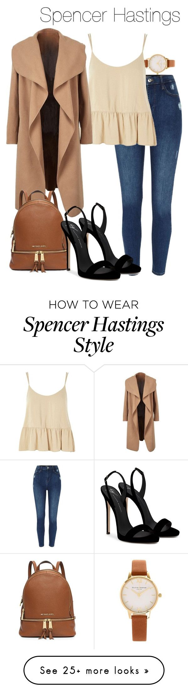 """""""Spencer Hastings- pll / pretty little liars"""" by shadyannon on Polyvore featuring Olivia Burton, Topshop and Giuseppe Zanotti"""