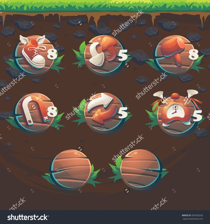 Feed The Fox Gui Match 3 Game User Interface Boosters - Cartoon Stylized Vector Illustration Window. - 459765556 : Shutterstock