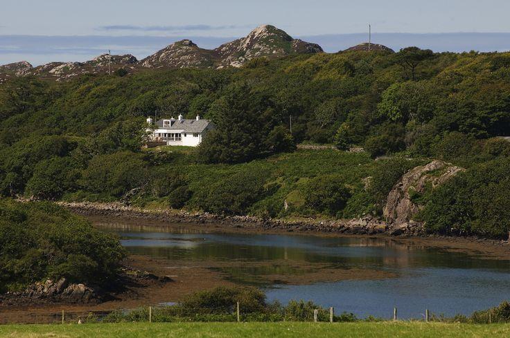 View of Ardfenaig Lodge from across Loch Caol.
