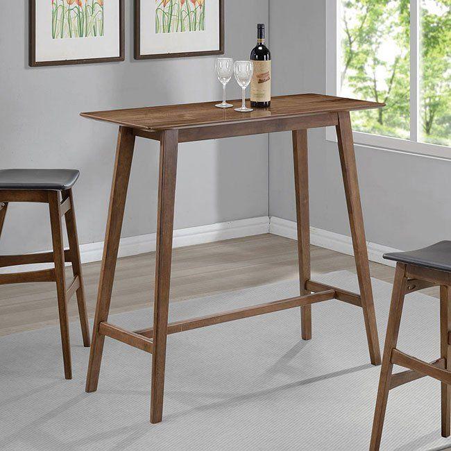 Mid Century Modern Rectangular Bar Table Pub Table Bar Table