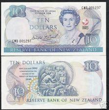 NEW ZEALAND 10 DOLLARS P176 1990 QUEEN COMMEMORATIVE LOW # UNC MONEY BANK NOTE