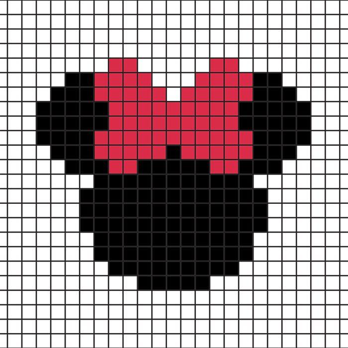 DIY : des sous-verre Mickey-Minnie en perles Hama (+ grilles