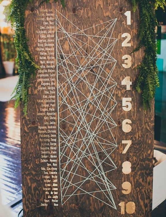 Cardless Seating Assignment | 20 Creative Wedding Seating Cards