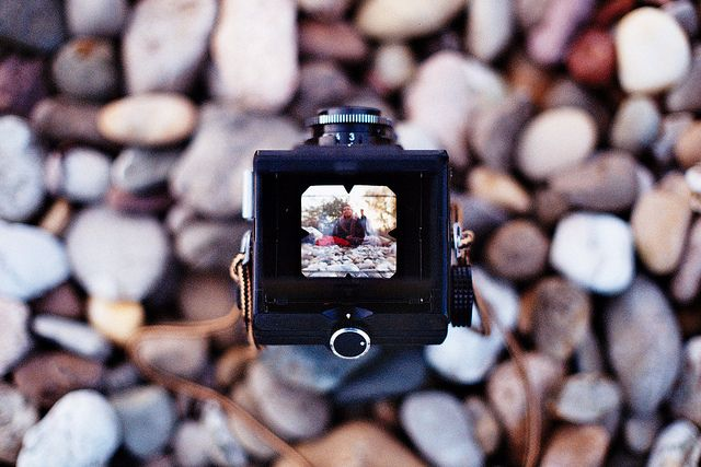 Eva in a Lubitel. by -MRGT, via Flickr