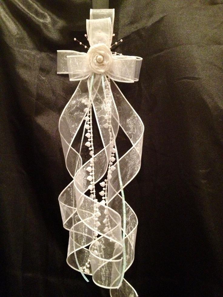 First Communion hair bow Customtutusandbows.com…