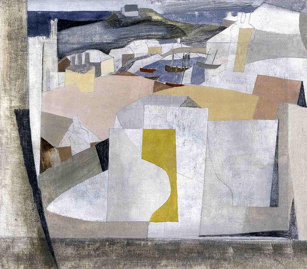 """""""15 July, 1949 (St. Ives Harbor),"""" by Ben Nicholson /  Yale Center for British Art"""