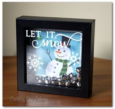 let it snow! frame with Simple Stories and jingle bells