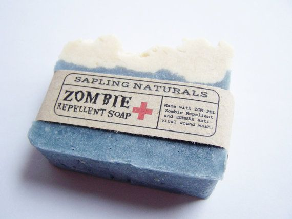 I like the iced look.  Zombie Repellent Soap  great gift for men nerds by saplingnaturals, $4.75