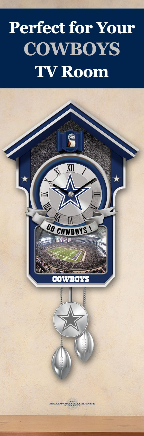 39 best dallas cowboys images on pinterest cowboy baby football dallas cowboys cuckoo clock
