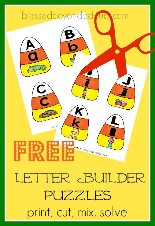 Super fun way to learn letter and sound recognition. Grab these free fall alphabet printables today.