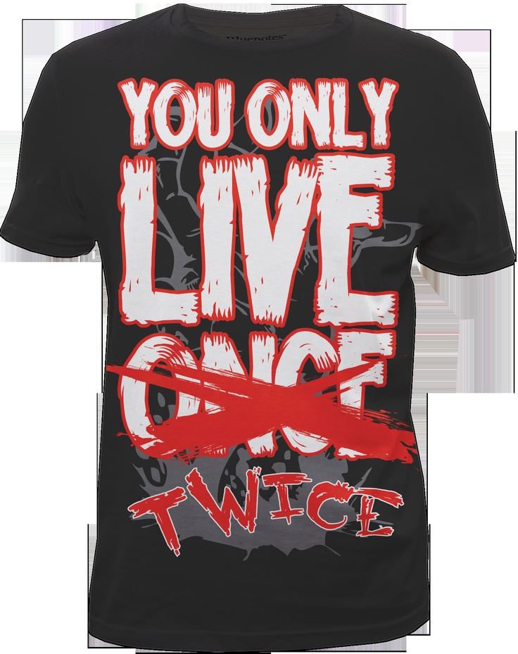 YOLO zombie ~ graphic tshirt Designed for Bluenotes