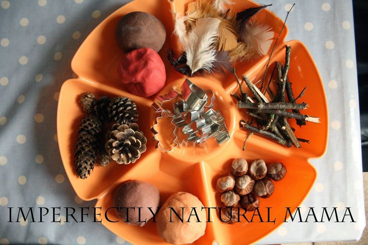 Autumnal scented play dough invitation to play