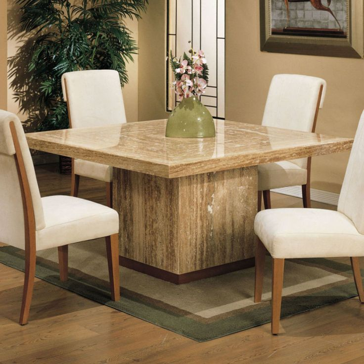 Square Dining Room Table Part - 33: Extended Families Enjoy Square Dining Table For Square Dining Table For 8  Travetine Square ~ Dining Room Inspiration