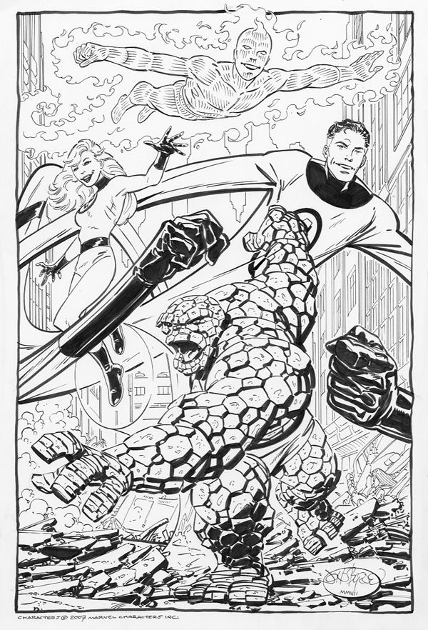 Fantastic Four commission by John Byrne. 2007.