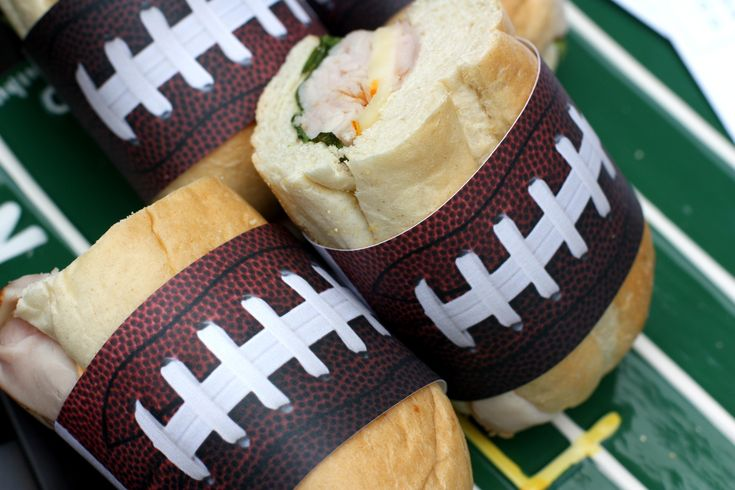 Score a Superbowl Party touchdown with these free Football printables to wrap around your subs and heroes!
