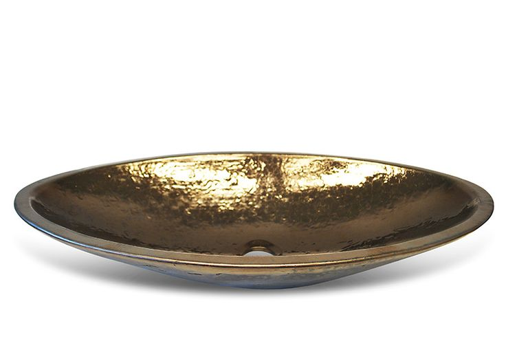 andmade glazed washbasins - gold