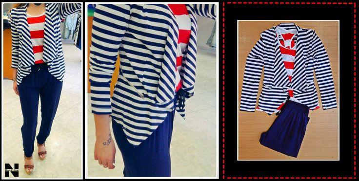 σακάκι - ζακέτα από 34€ - 17€ μπλουζάκι από 12€ - 8€ παντελόνα σε 4 χρώματα μπλε, κοραλί, κίτρινο, μαύρο από  34.90€ - 17€ #extre