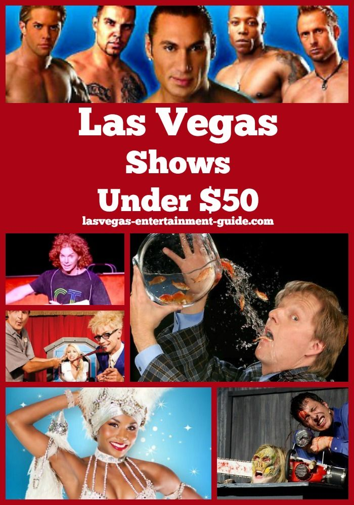 Cheap Las Vegas shows - under $50 for when you are on a budget!