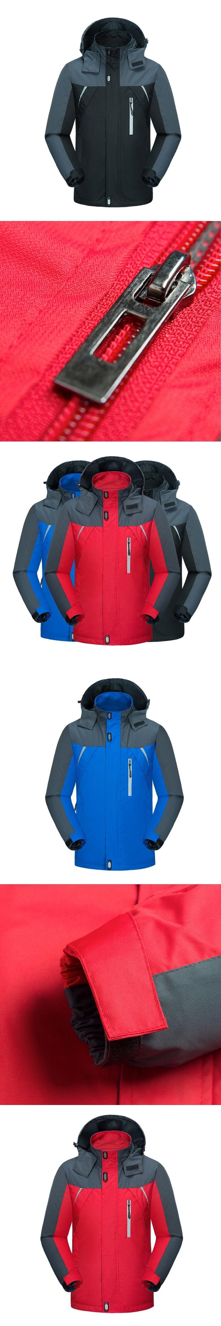 2017  spring&autumn Mountaineering Jackets Men's Windproof Waterproof Jackets Cotton Jackets jaqueta masculino plus size 4XL