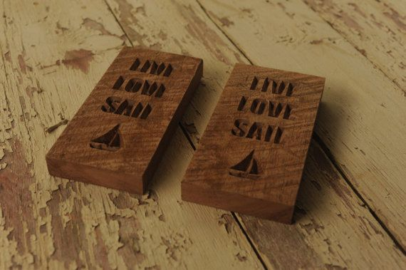 Live Love Sail  Wood Sign  CNC Wood Sign  Nautical Decor by OYKNOT