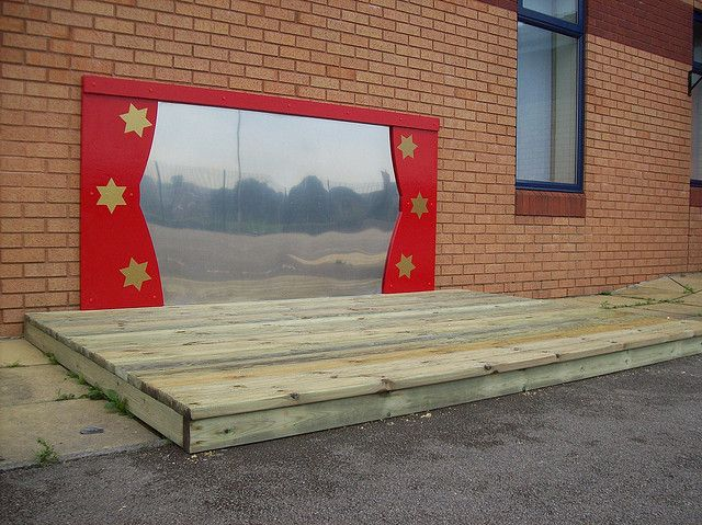 "This simple ""theatre stage"" can become so much more with a child's imagination."