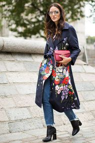 Уличный стиль недели моды в Лондоне сезона весна-ле