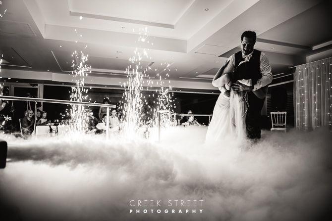 Newport Mirage wedding - dry ice dance