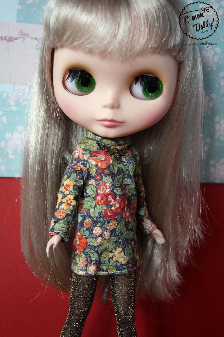 Blythe Licca Retro 60s Liberty Flower Dress Set by cmondolly on Etsy