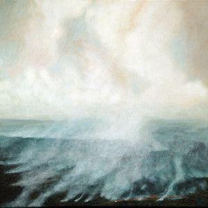 Fire/Smoke (2013) oil on canvas - Kirsten Sivyer Fine Art Studio. Landscape painting. Fire, smoke. Kirsten Sivyer Fine Art Studio. Perth, Western Australia. kirstensivyer.com