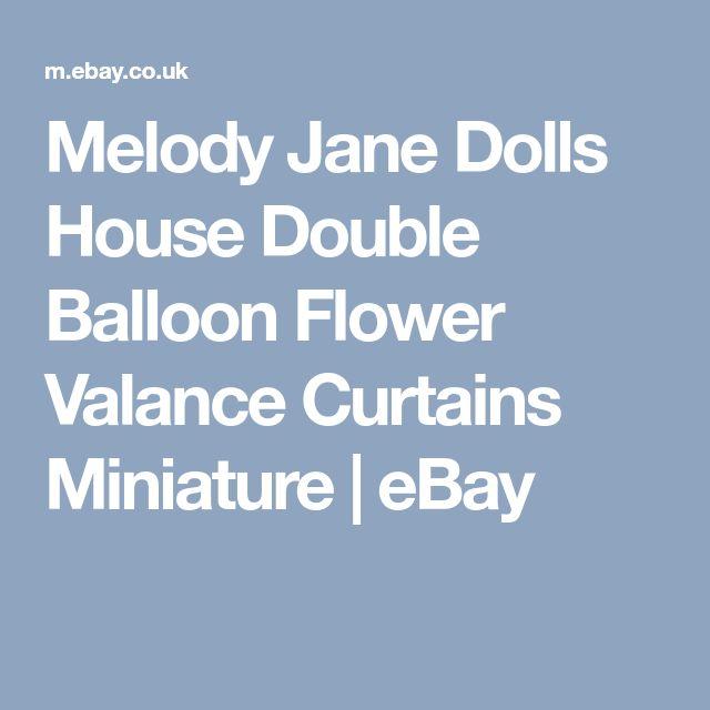 Melody Jane Dolls House Double Balloon Flower Valance Curtains Miniature | eBay