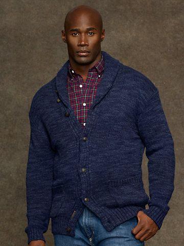Cotton Shawl-Collar Cardigan - Sweaters   Big & Tall - RalphLauren.com