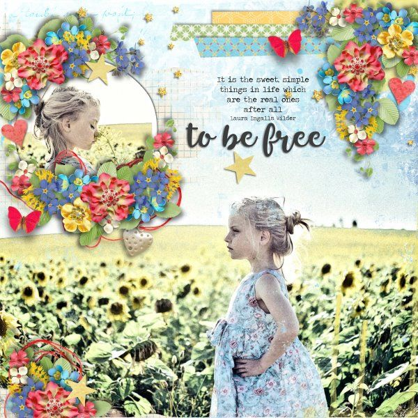 Template Arty Inspiration #12 by Heartstrings Scrap Art. Kit Blossoms of Life by Eudore Designs . Photo per kind favour of Marta Everest Photography.
