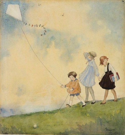 "Ethel Spowers (Australian, 1890-1947)  ""The kite"", circa 1918"