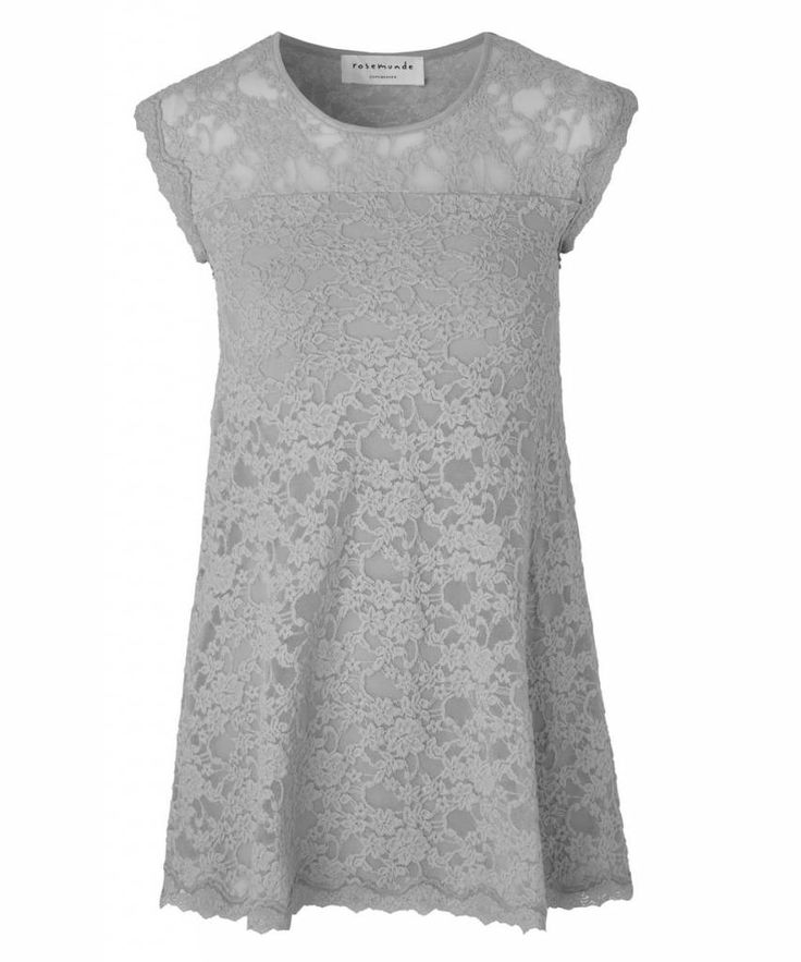 Rosemunde lace dress cement grey