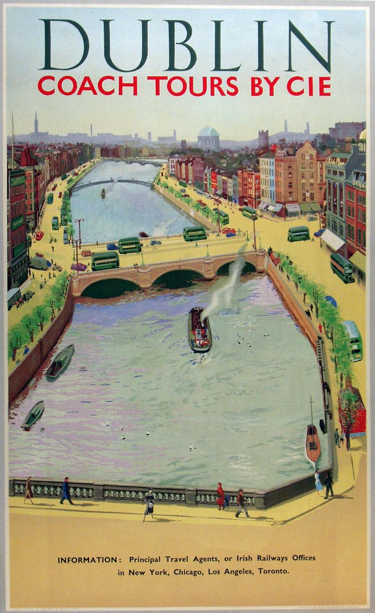 Dublin, Vintage European Posters | City Posters | Vintage ...