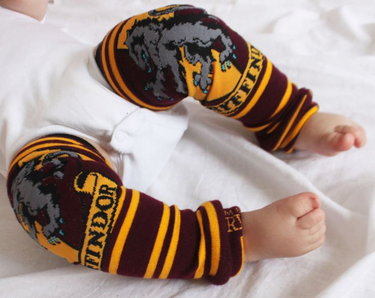 Harry Potter Gryffindor Baby Leg Warmers by GigglePoo on Etsy, $15.00