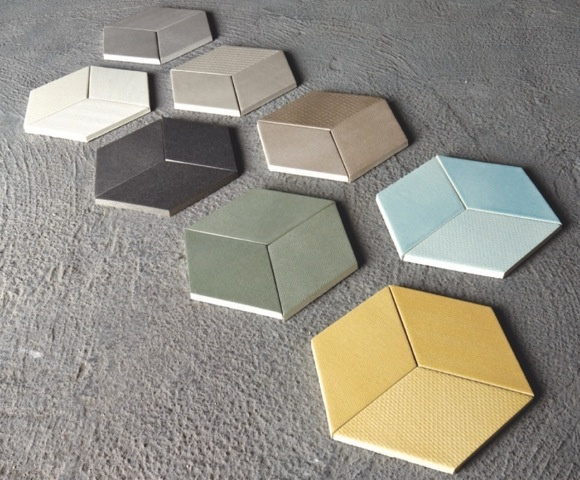 """A rich multi-colored ceramic tile collection inspired by textiles textures was the starting point of the new project designed for Mutina by Raw Edges studio in London. """"Creating a tangible texture is one of the challenges when designing ceramics tiles"""", the two young designers state."""