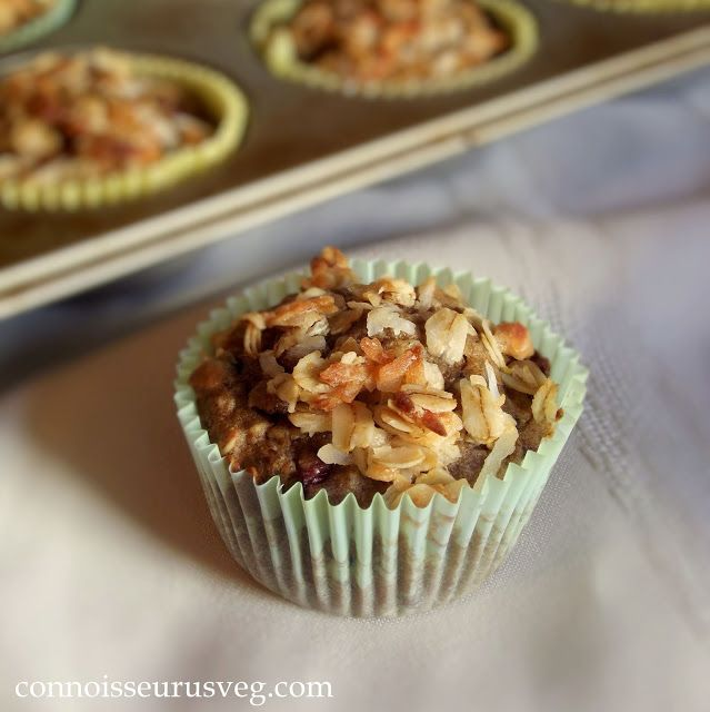 Just use the crumble too...  Cherry Oatmeal Crumble Top Muffins