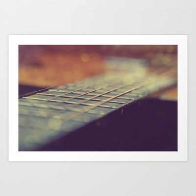 Guitar Bokeh Art Print by marialivia16 - $14.04