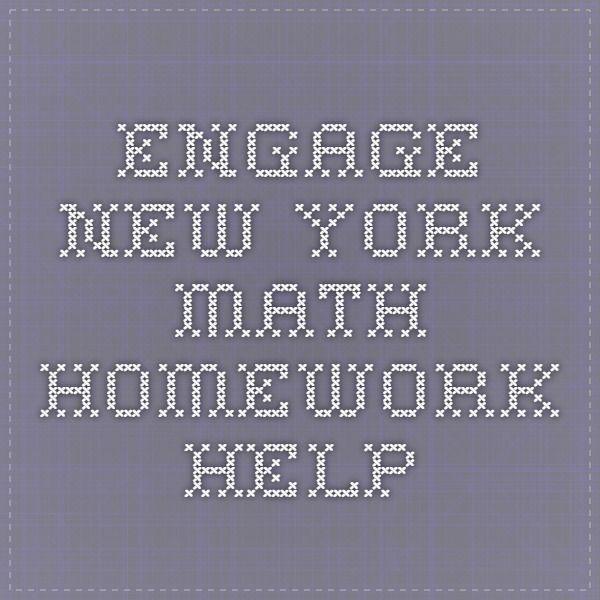 Engage New York Math Homework Help