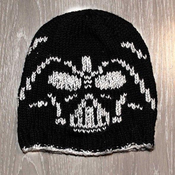 knitted Darth Vader hat Crafty Pinterest Knitting patterns, Darth vader...