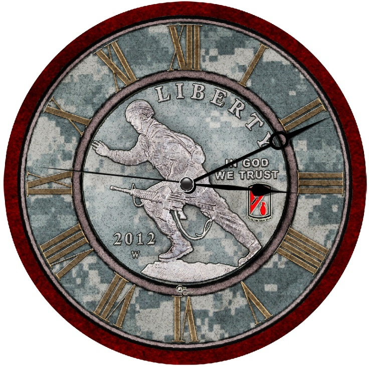2012-W Infantry Commemorative CoinClock™ at coinclocks.co
