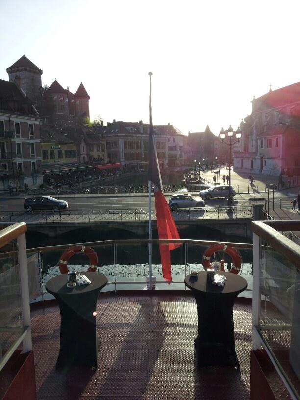 Le vieux Annecy. Soirée des trophees 2013 sur le Libellule
