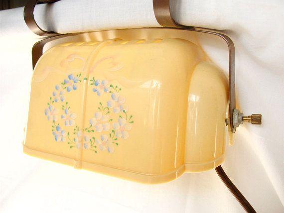 Vintage Headboard Reading Lamp Clamp Light Retro Yellow Reading Lamps Vintage Headboards And