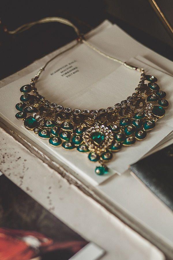 green bridal jewelry