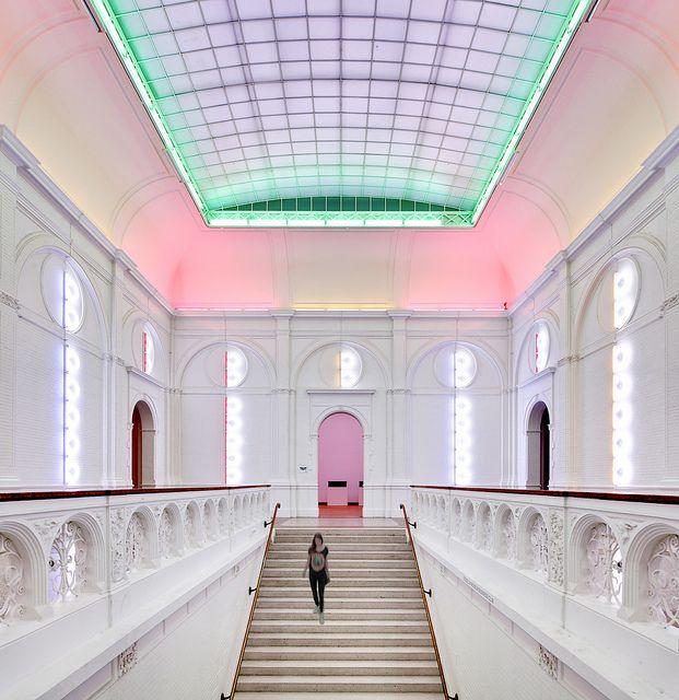 Amsterdam - Stedelijk Museum Light Installation by Dan Flavin.