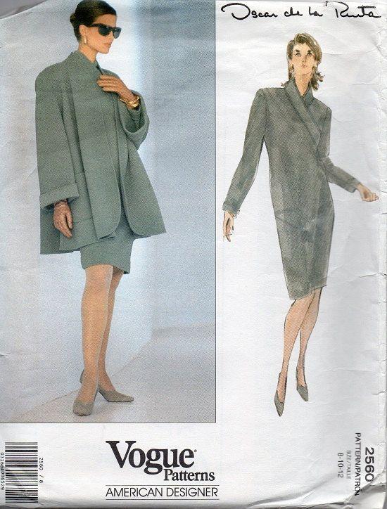Oscar de la Renta Vogue 90s Sewing Pattern by AdeleBeeAnnPatterns, $16.00