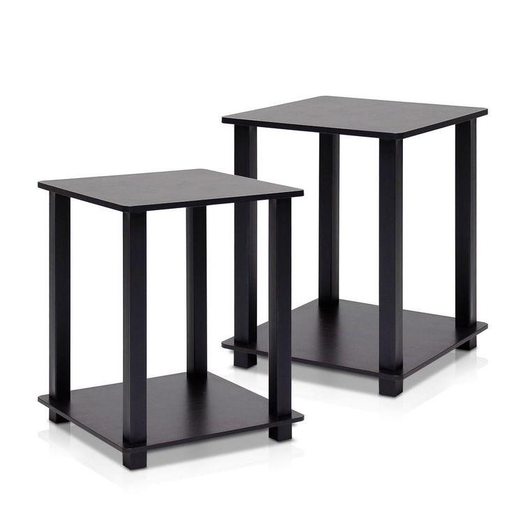 End Side Tables Living Room Furniture Bedside Nightstand Coffee Stand Set Of 2 #EndSideTables #Modern
