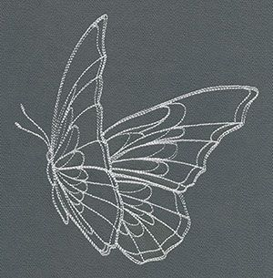 Flight & Dark Butterfly 1   Urban Threads: Unique and Awesome Embroidery Designs